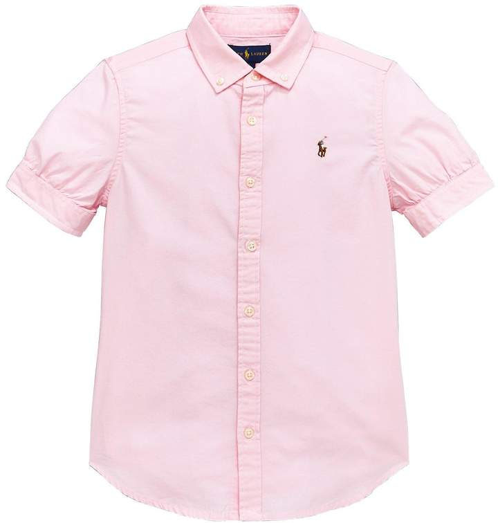 Ralph Lauren Girls Short Sleeve Oxford Shirt