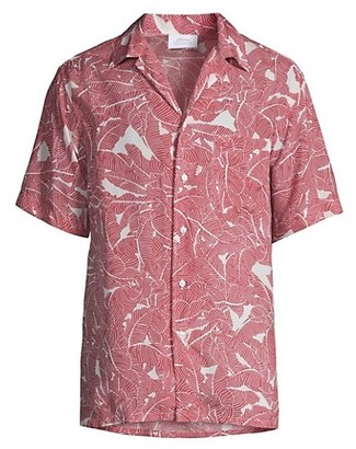 Brioni Palm Tree Short-Sleeve Shirt