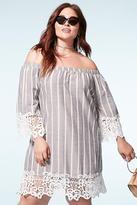 Forever 21 FOREVER 21+ Plus Size Velzera Stripe Dress