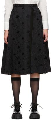 Noir Kei Ninomiya Black Floral Jacquard Skirt