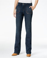 Style&Co. Style & Co. Studded Blue Shadow Wash Bootcut Jeans, Only at Macy's