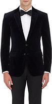 Ralph Lauren Purple Label Men's Anthony Stretch Velvet Two-Button Sportcoat-NAVY