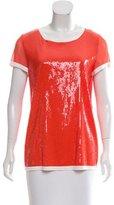 Jean Paul Gaultier Sequined Short Sleeve Top