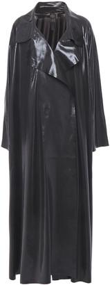 Norma Kamali Lame Trench Coat