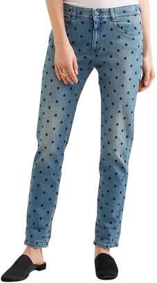 Stella McCartney The Skinny Embroidered Boyfriend Jeans
