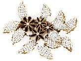 Miriam Haskell Crystal & Bead Floral Brooch