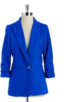 MICHAEL MICHAEL KORS Shirred Sleeve Linen Jacket