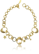 Roberto Cavalli Circus Golden Metal Necklace w/Crystals