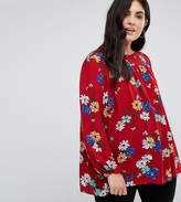 Alice & You Relaxed Smock Top In Bold Floral