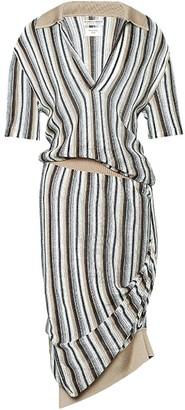 Bottega Veneta Striped Polo Knit Dress