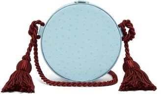 Hillier Bartley Tassel-embellished Leather Cross-body Bag - Womens - Light Blue