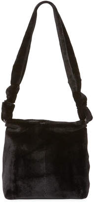 The Row Wander Small Mink Fur Bag, Black
