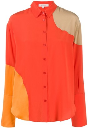 Chinti and Parker Panelled Loose-Fit Shirt