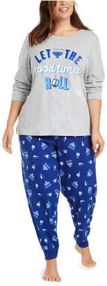 Matching Family Pajamas Plus Size Let The Good Times Roll Hanukkah Pajama Set