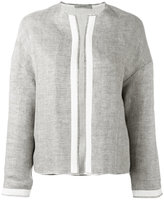 Dusan collarless jacket - women - Linen/Flax - S