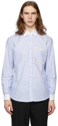 Burberry Blue Lace Detail Oxford Shirt