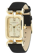 Isaac Mizrahi Live! Rectangle Case Watch with Suede Strap