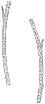 Sterling Forever Rhodium Plated Sterling Silver Pave CZ Ear Crawlers