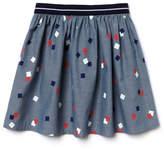 Lacoste Girl's Print Poplin Flared Skirt
