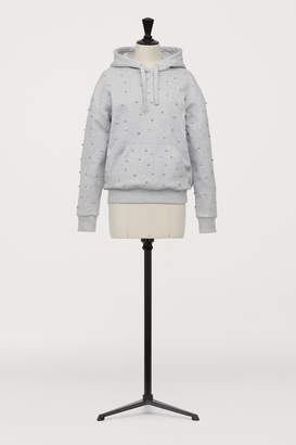 H&M Hooded top with sparkly stones
