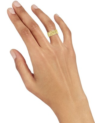 Sterling Forever 14K Gold Vermeil Curb Chain Band Ring/Size 8