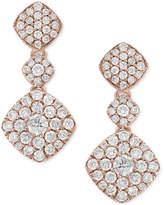 Effy Pavé Rose by Diamond Drop Earrings (1-1/4 ct. t.w.) in 14k Rose Gold