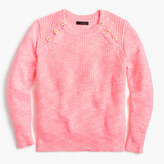 J.Crew Textured sweater with anchor buttons in variegated pink