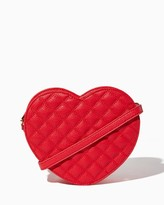 Charming charlie Quilted Heart Crossbody