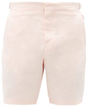 Orlebar Brown Norwich Linen Shorts - Pink