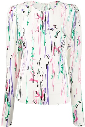 Isabel Marant graphic print blouse
