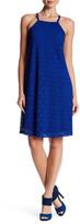 Nine West Button Strap Crochet A-Line Dress