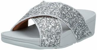 FitFlop Women's Lulu Glitter Slides Open Toe Sandals