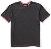 Roundtree & Yorke Soft-Washed Short-Sleeve Solid Double Crew Neck Tee
