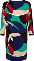 Phase Eight Adalee Leaf Colour Block Print Dress