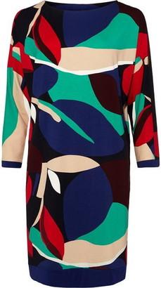 Phase Eight Adalee Leaf Colour Block Print Dress
