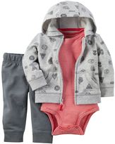 Carter's Baby Boy Sports Cardigan, Bodysuit & Pants Set