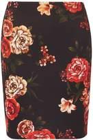 Dorothy Perkins Multi Coloured Floral Print Scuba Mini Skirt