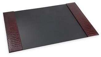 Graphic Image Croc-Embossed Leather Desk Blotter