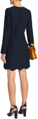Carven Satin-paneled Crepe Mini Dress