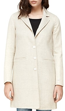 Soia & Kyo Ezme Double-Face Wool-Blend Plaid Coat