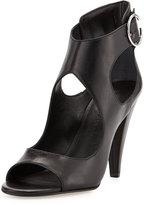 Sigerson Morrison Major Leather Cutout Sandal, Black