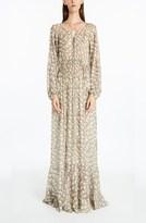 Derek Lam Lace-Up Python Printed Dress