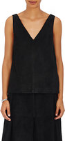 Robert Rodriguez Women's Suede Open-Side Top