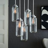 west elm 5-Jar Glass Chandelier - Brushed Nickel