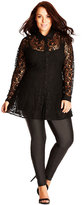 City Chic Plus Size Long-Sleeve Lace Top