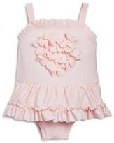 Miniclasix Infant Girls' Petal Heart Skirted Swimsuit - Sizes 3-24 Months