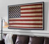 Pottery Barn American Flag Framed Print