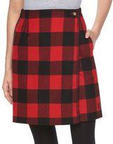Woolrich Plaid Wool Blend Wrap Skirt - Women's