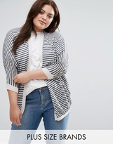 Junarose Striped Knit Cardigan