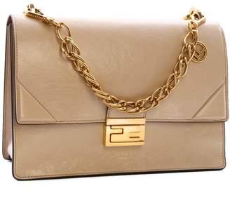 Fendi Kan U FF Logo Clasp Chain Shoulder Bag